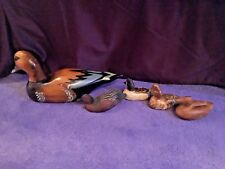 LOT OF 5 VINTAGE DUCK DECOYS INCLUDING 2 BY GARY STARY- SIGNED!