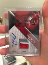 MIKE TROUT AUTO 4/5 2018 Topps Series 2 I3 COLOR Patch Auto Game Used!!! Ridic!!