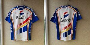 Banesto Cycling Shirt Nalini Campagnolo Vintage Cycle Camiseta Italy OLD 1980/90