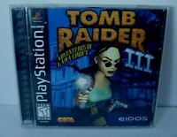 TOMB RAIDER III  ADVENTURES LARA CROFT GAME  W/ MANUAL (SONY PLAYSTATION 1998)