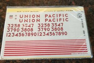 Herald King HO Decals UP UNION PACIFIC L-482 Hood Unit Decals Sealed