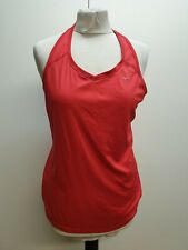 CC493 WOMENS NIKE RUNNING DRI-FIT RED SLEEVELESS FITTED SPORTS VEST L UK 12
