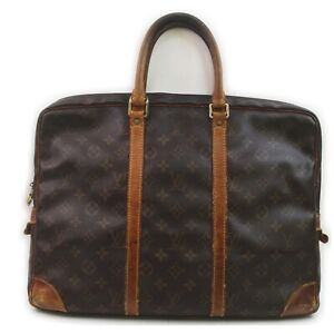 Louis Vuitton Brief Case Documents Voyage M40226 Browns Monogram 1512494