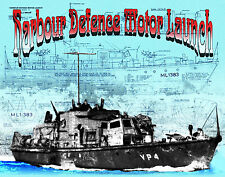 Build model boat Harbour Defence Motor Launch full size Printed PLANS & Article