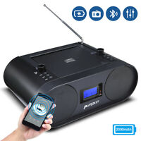 Portable CD Player Boombox Speaker Radio Player Rechargeable Bluetooth USB AUX