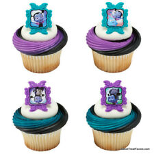 VAMPIRINA Girl Party CUPCAKE Birthday Decoration Rings 24 PCS Favors Treats Ring