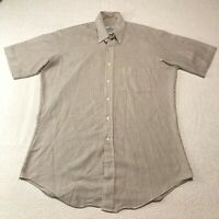 Vintage 1970s Sears Perma Prest Shirt Button Down Collar Men's Size 16 Large
