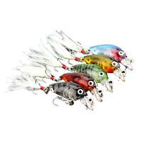 Hengjia 3.6 Cm 4G Mini Plastico Transparente Senuelos De Pesca Cebo Minnow  B2S8