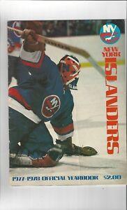 1977-78 NEW YORK ISLANDERS YEARBOOK NHL VERY NICE SHAPE