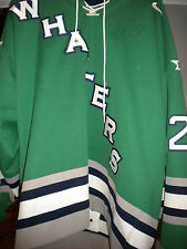 2002-2003 OHL PLYMOUTH WHALERS GARY KLAPKOWSKI GAME WORN SIGN HOCKEY JERSEY-LOA