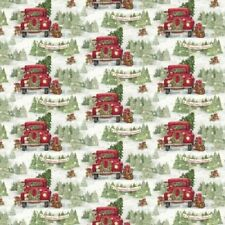 CHRISTMAS TREE FARM SNOWFLAKES SNOW FABRIC