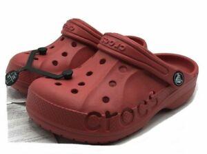 Crocs Baya Clogs Beach Sandals Red 205483-6EN Youth Sz J1 NWT