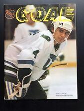 c2ad5f024d3 1983 NHL Goal Magazine Program Hartford Whalers vs Canucks Ron Francis  1-6-83