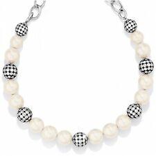 NWT Brighton PEBBLES & PEARLS Silver Bead Short Necklace MSRP $98