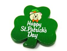 Happy St. Patrick's Day Pin Button Vintage Collectible