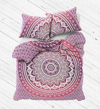 Indian Cotton Ombre Mandala Reversible Bedding Duvet Doona Cover Set Blanket Art