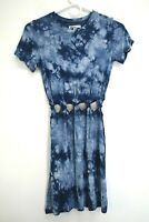American Eagle Women's Size XS Short Sleeve Tie-Dye Knotted Short Dress Top