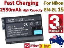 AU 2550mAh Battery for Nikon EN-EL15 Battery D7000 D7100 D800 D800E D600 Camera