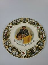 Vintage CAPSCO 1961 President and Mrs. John F. Kennedy collectible plate