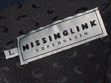 MISSINGLINK SmartGreyFrontButtoningEuroVneck SizeL