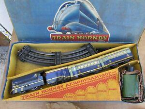 HORNBY O TRAIN PLM AERODYNAMIQUE AD-2E ELECTRIQUE JOUET ANCIEN STREAMLINE 1930s