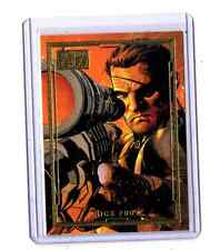 Marvel 75th. Anniversary Nick Fury Gold insert card # 5 Limited 74/75