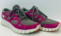 Nike Free Run+ 2 Women's Running Shoes Size 8.5 Purple gray white 443816-016
