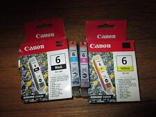New Genuine Factory Sealed Canon Ink Set BCI-6Bk BCI-6M BCI-6Y BCI-6C
