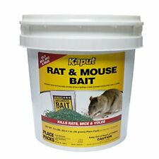 Rat Mouse Vole Bait to Use near Runways and Burrow Openings (60 Place Packs)