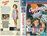OUR LITTLE GIRL COLOUR VERSION SHIRLEY TEMPLE JOEL McCREA  RARE PAL VHS VIDEO