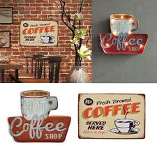 2x Coffee Retro Metal Tin Sign LED Light Box Kitchen Cafe Bar Wall Art