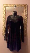 NEW Look 12 nero in velluto e pizzo minidress ~ non solo per Halloween 🦇