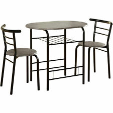 Small Bistro Set Indoor Kitchen Round Dining Table & 2 Chairs
