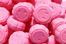 Silicone Containers (30) - Everyday Storage - SMILEY FACE - Pink