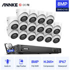 ANNKE 4K 8MP POE Security Camera System Audio Recording 16CH NVR Outdoor H.265+