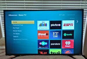 Hisense 43-Inch Class H4 Series LED Roku Smart TV w/ Alexa Compatibility (43H4F)
