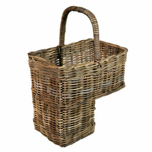 Rattan Stair Basket Grey Or Natural High End Quality Storage Home Stairs Storage