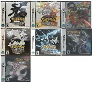 Pokemon Games for Nintendo DS (White, Black, Pearl, Diamond, Platinum)