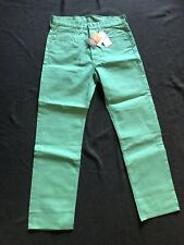 LEVI'S 501 BUTTON FLY RAW DENIM STRAIGHT LEG JEANS 32x32-GREEN-NEW WITH TAGS