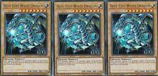 YUGIOH 3 X BLUE-EYES WHITE DRAGON LCKC-EN001 LEGENDARY COLLECTION KAIBA ULTRA