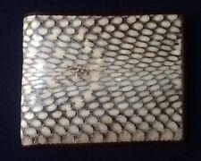 Real 100% Genuine Cobra snake skin leather wallet bi fold men's