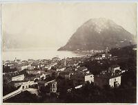 Italia Lago Di Como Vintage Albumina Ca 1880