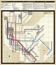 1972 Massimo Vignelli New York Subway Map - 24x28