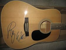 PINK FLOYD SIGNED GUITAR AUTOGRAPH ROGER WATERS THE WALL US + THEM MASON PROOF