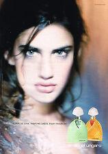 PUBLICITE ADVERTISING 045  2000  UNGARO   parfum femme DIVA