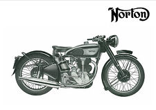 NORTON Poster Inter International 1949 1950 1951 1952 Suitable to Frame