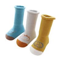 3 Pair Baby Infant Soft Warm Winter Leg Warmers Knee Thick Long Socks TI