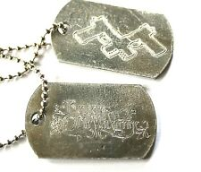 BULLET FOR MY VALENTINE Official Metal Dog Tags BFMV Rare(not patch shirt)