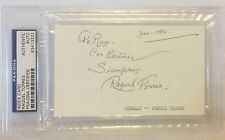 RAQUEL TORRES 1908-1987 Marx Brothers Autograph PSA/DNA  Slabbed Encapsulated