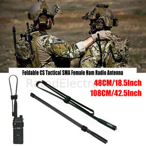 Two Way Radio SMA-Female Dual Band Tactical Antenna VHF/UHF BaoFeng UV-5R UV-82